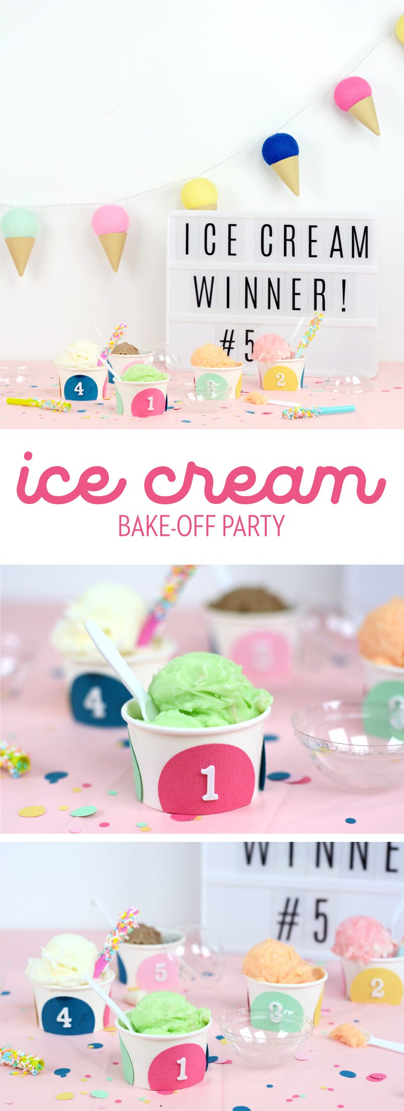 Looking for Summer BBQ Party Ideas? How about having an Ice Cream Contest complete with adorable DIY Sprinkle Straws! See it all from Amy Robison on Love the Day
