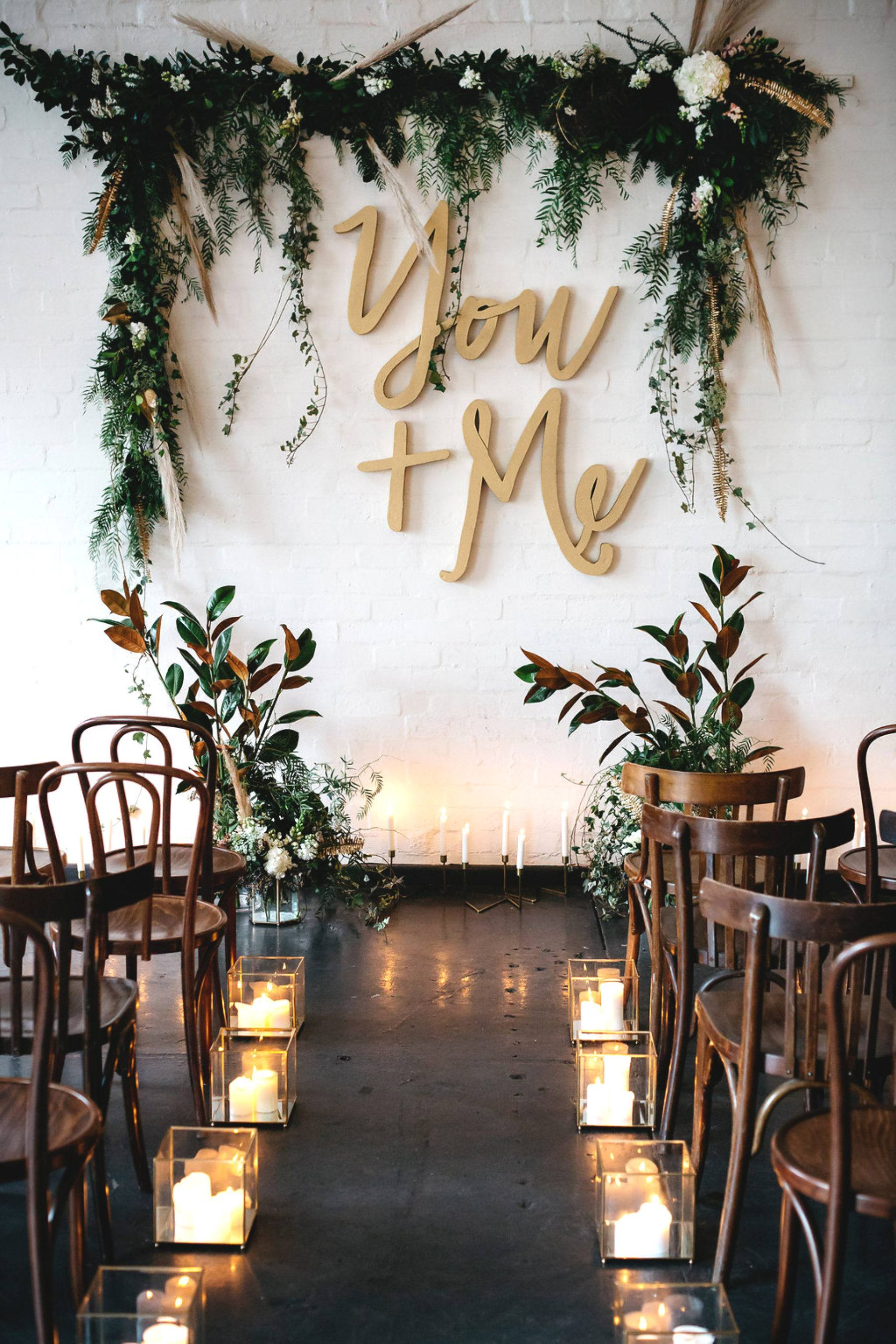 10 Simple and Stunning Wedding Backdrop Ideas on Love the Day
