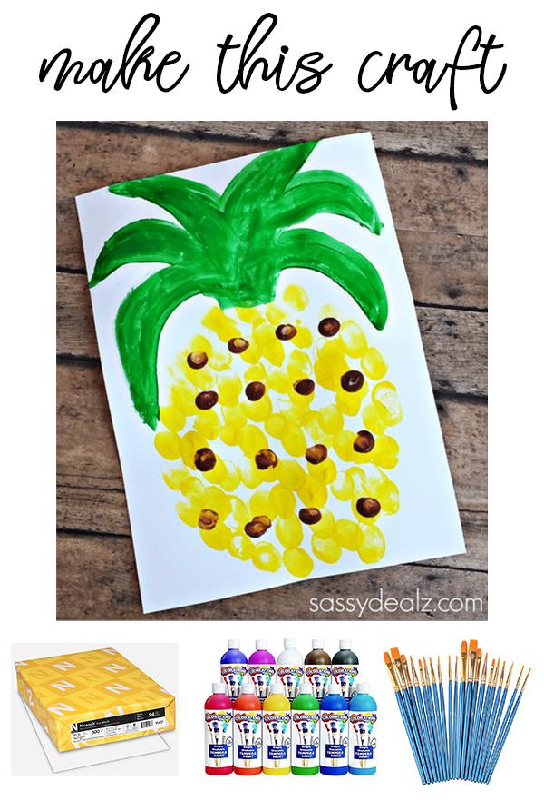 Pineapple Kids Craft