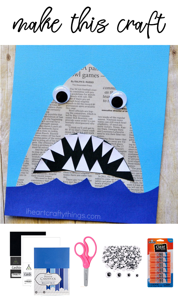 Shark Paper Craft on Love The Day