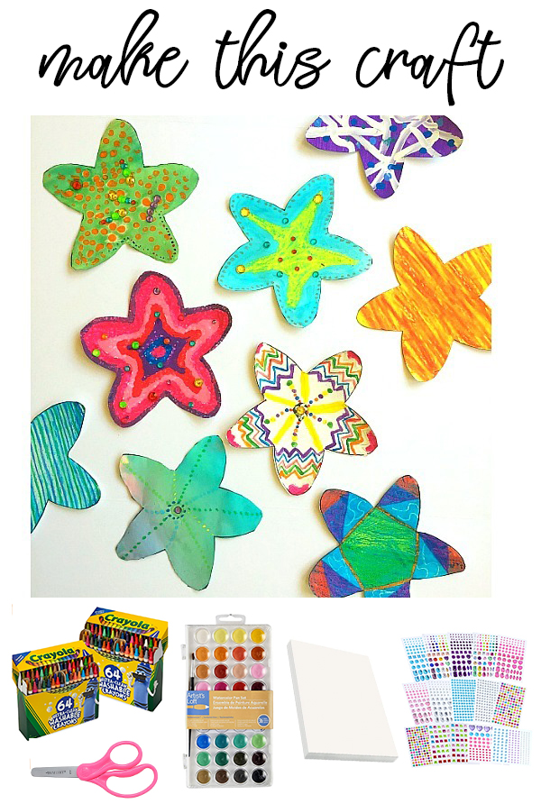 Starfish Coloring Craft on Love The Day