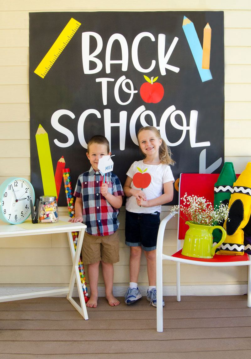 Back to school printable photo booth props