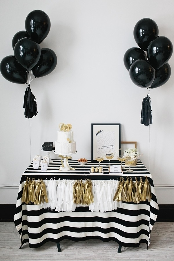 Black & white bridal shower