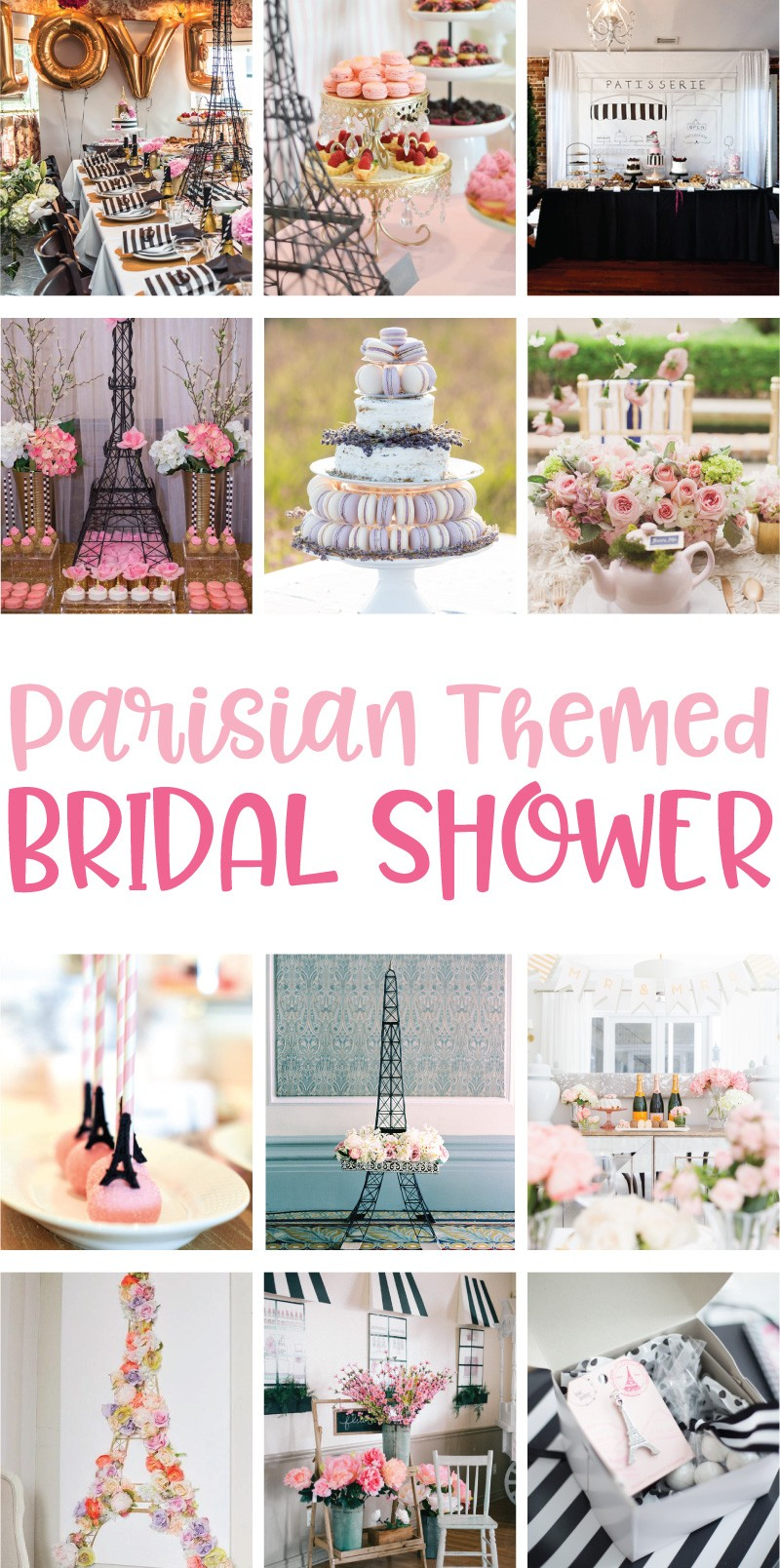 Gorgeous Parisian Themed Bridal Shower Ideas on Love the Day