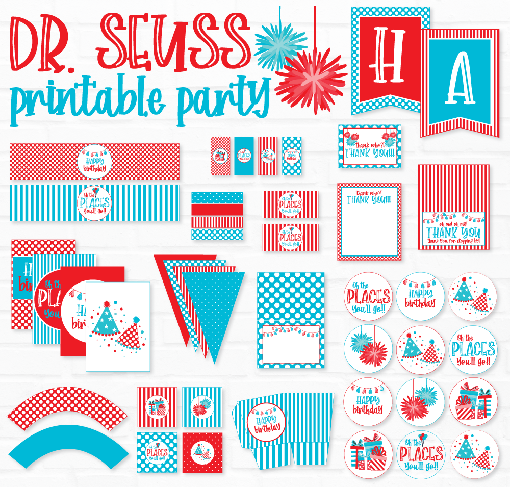 Dr. Seuss Printable Party by Lindi of Love The Day