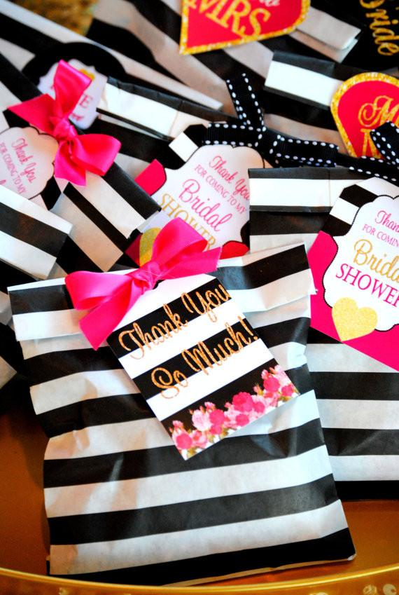Black & White Bridal Shower Ideas on Love the Day