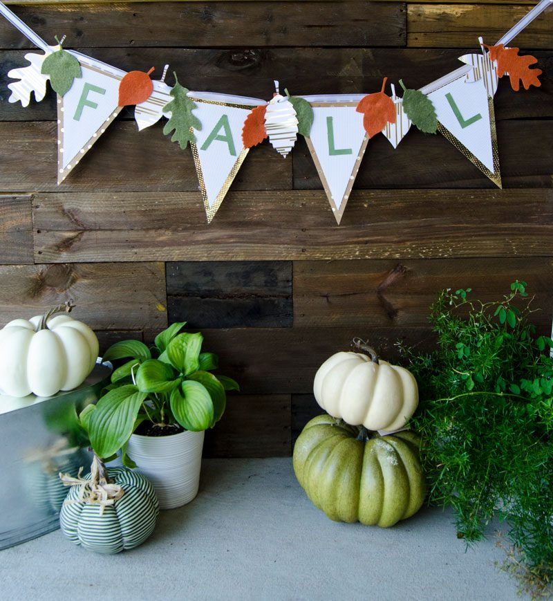 Diy fall banner svg