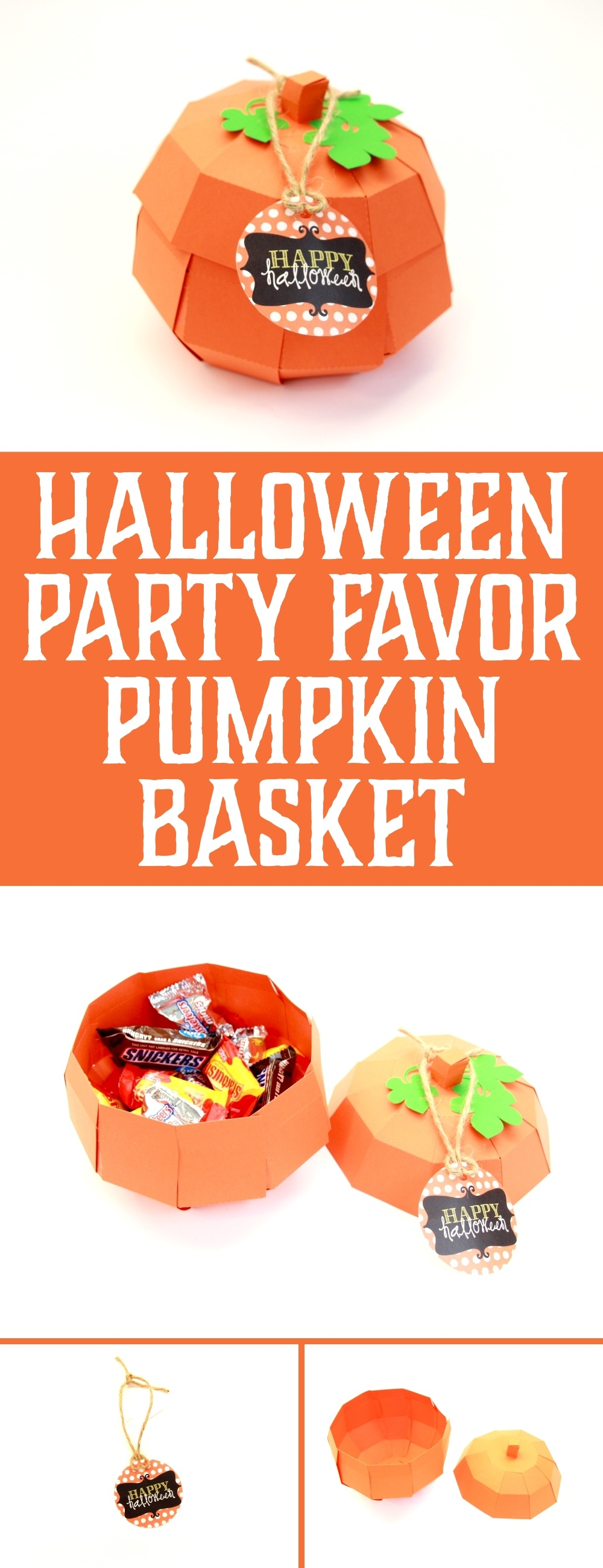 Learn how to make this adorable Halloween Party Favor Pumpkin Basket by Polka Dotted Blue Jay on Love the Day
