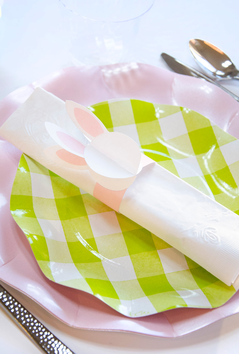 PRINTABLE Bunny Napkin Wraps by Lindi Haws of Love The Day