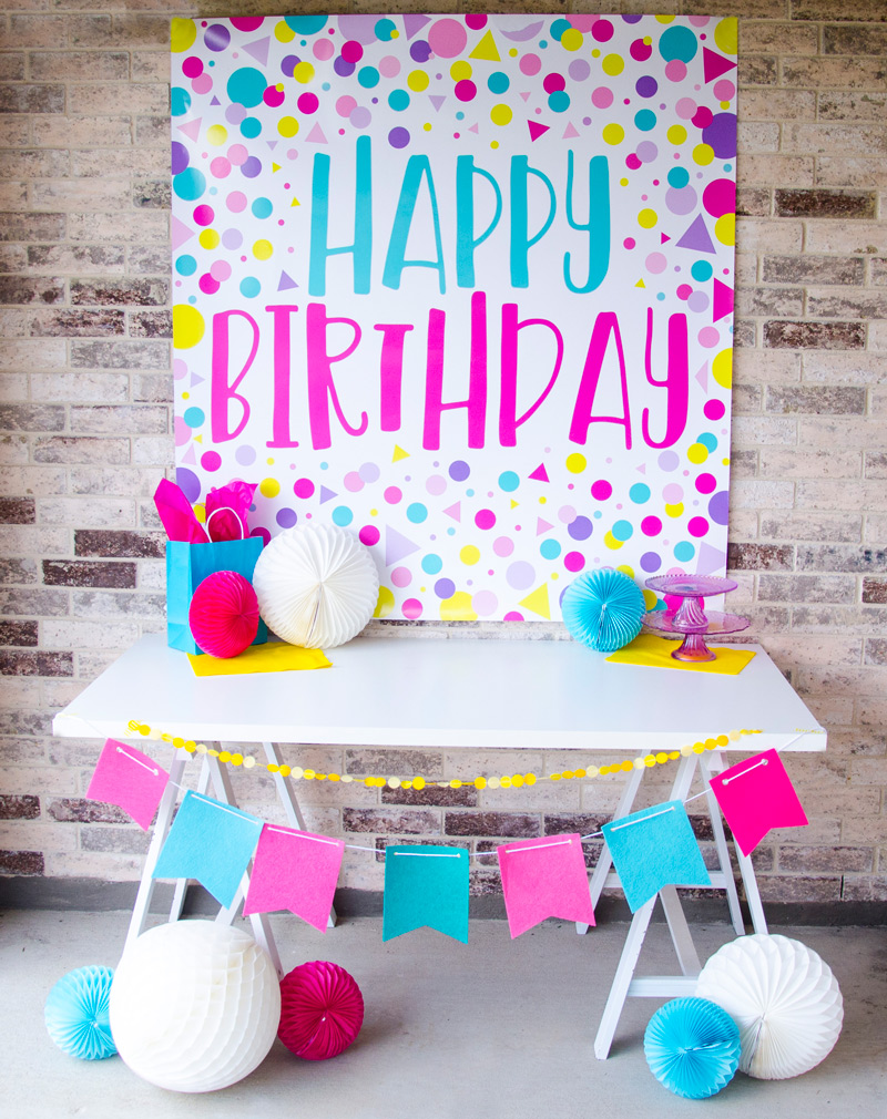 Happy Birthday Backdrop Ideas by Lindi Haws of Love The Day
