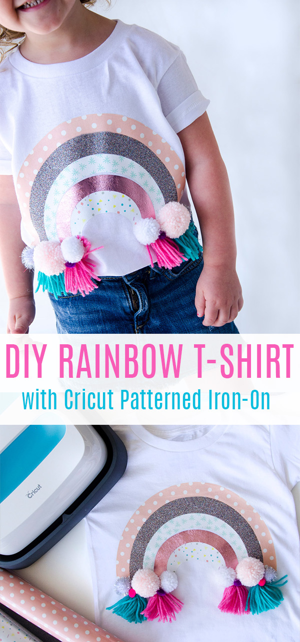 Rainbow Craft Ideas with Cricut Patterned Iron-On by Lindi Haws of Love The Day