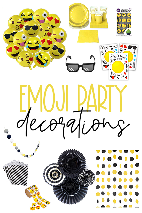 Emoji Party Decorations on Love The Day