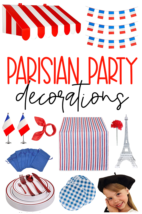 Parisian Party Decorations on Love The Day