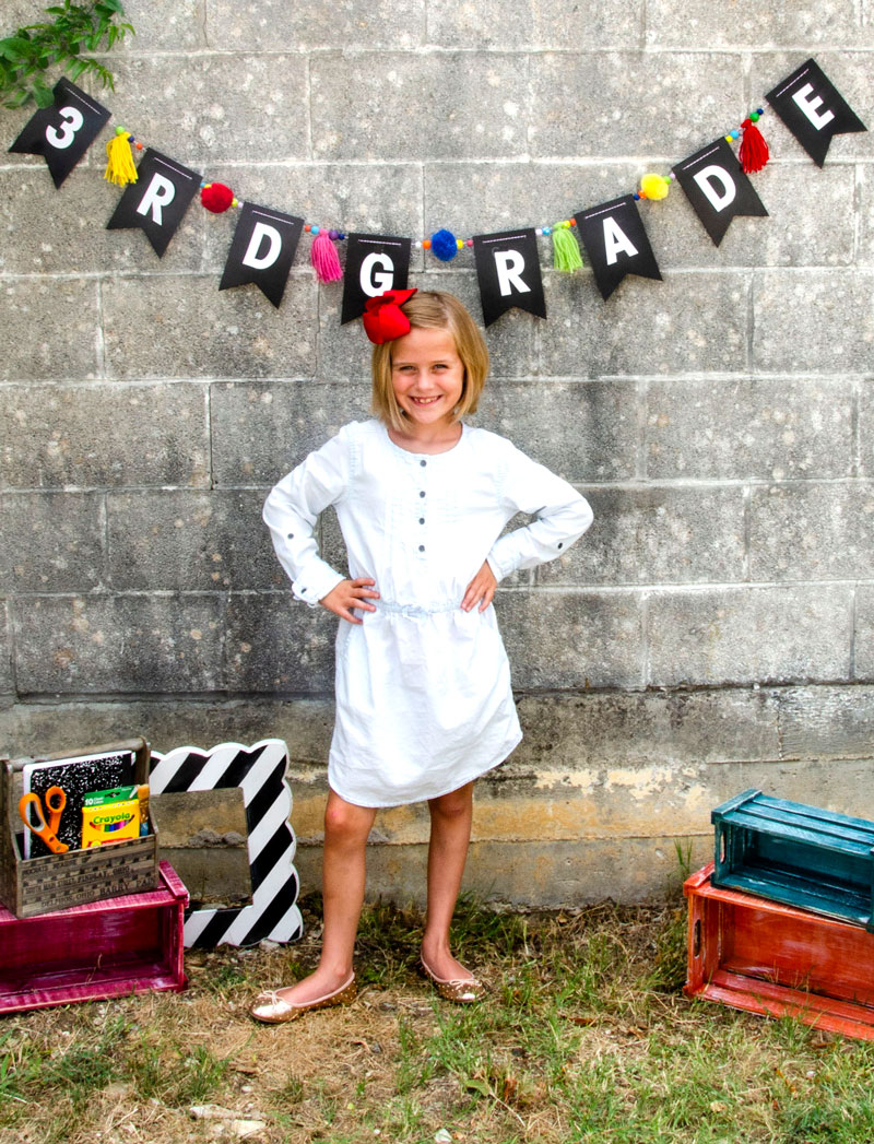 Back To School Grade Banner Tutorial by Lindi Haws of Love The Day