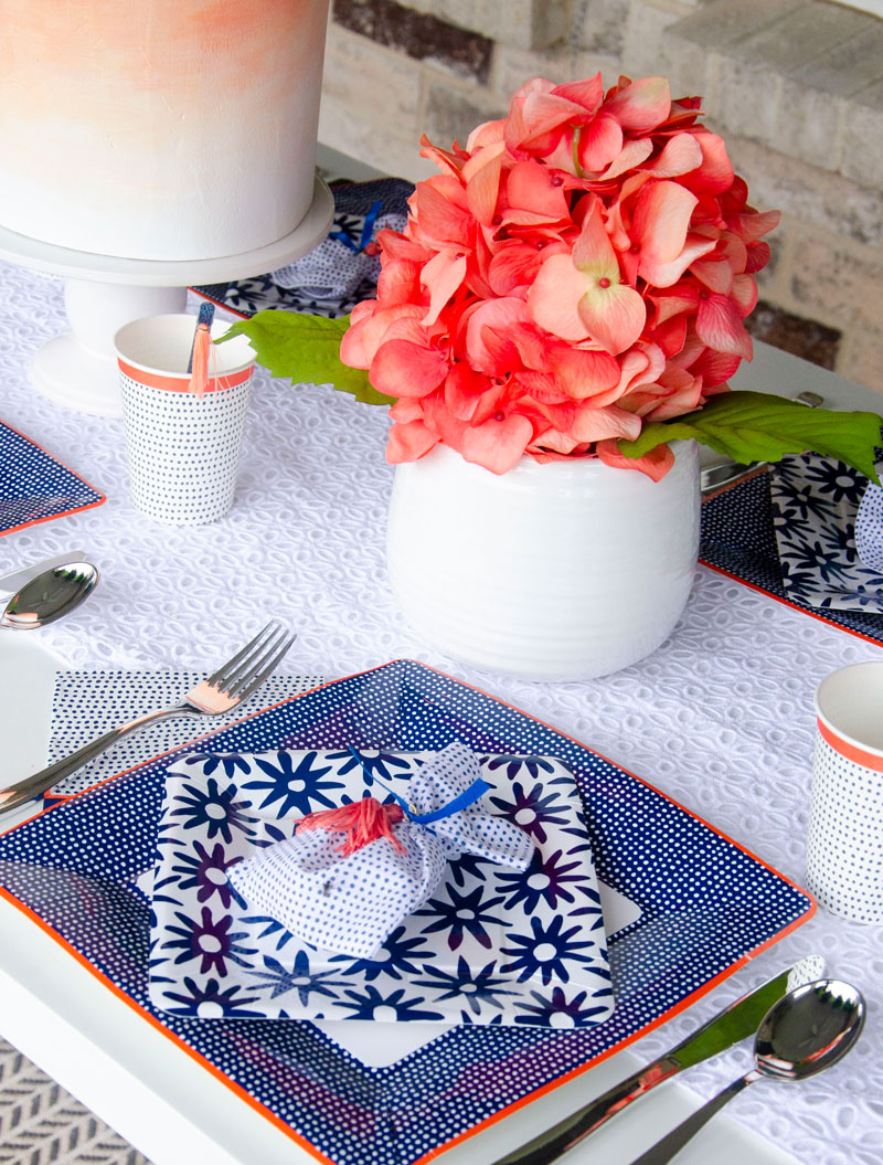 Martha Stewart Blue & Coral Indigo Party by Lindi Haws of Love The Day