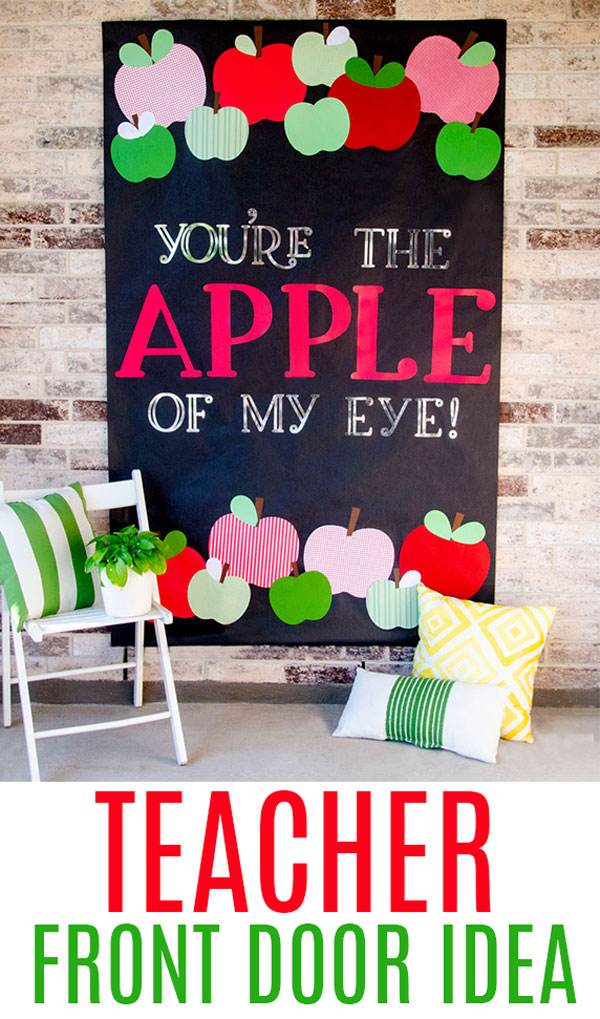 Apple Teacher Door Ideas with Cricut by Lindi Haws of Love The Day