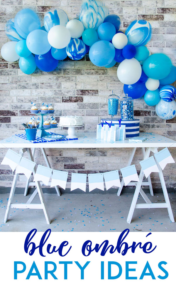 Blue Ombre Party Ideas by Lindi Haws of Love The Day