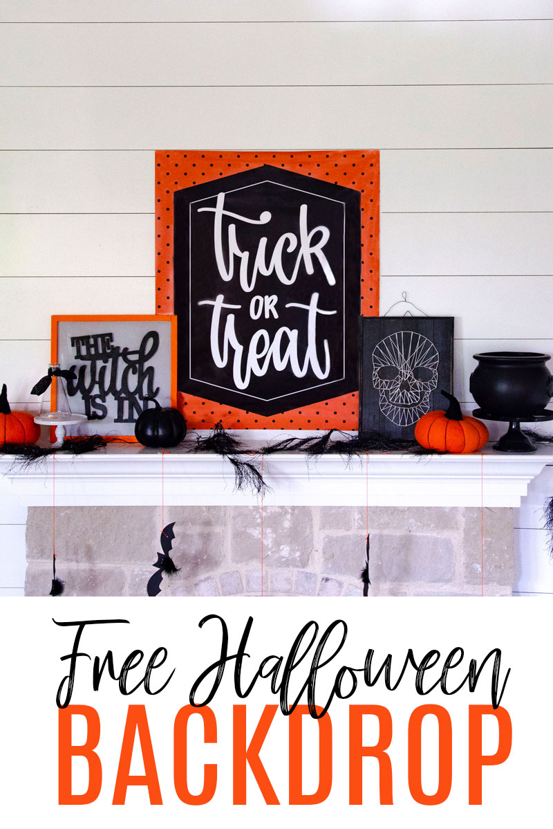 Traditional Halloween Decorations - FREE BACKDROP by Lindi Haws of Love The Day