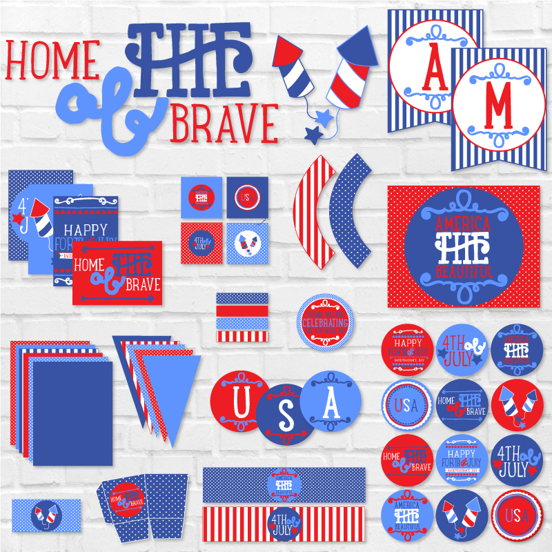 Home Of The Brave 4th of July Printable Party by Lindi Haws of Love The Day