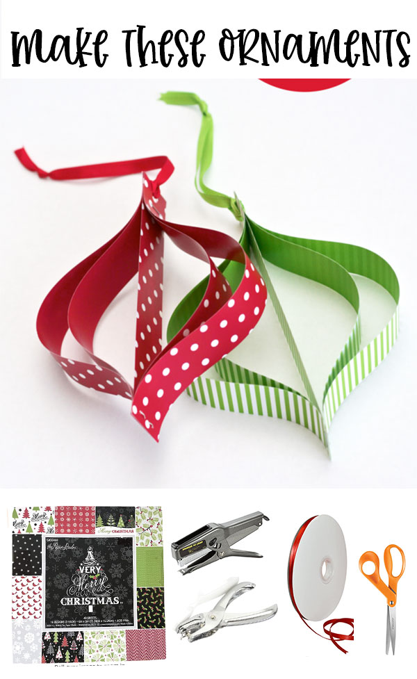 Twirly Top Paper Ornaments on Love The Day