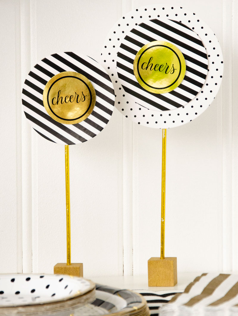 New Years Eve Party Ideas with Cricut by Lindi Haws of Love The Day