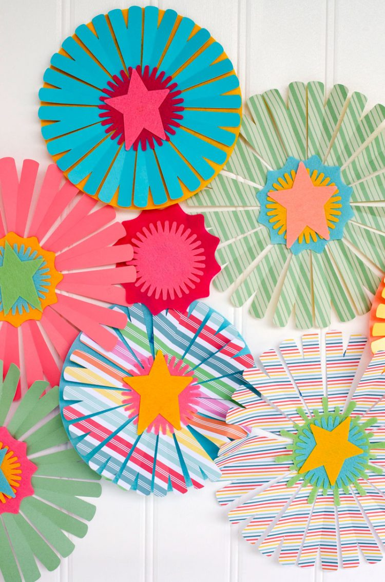 DIY Party Paper Fans with Cricut by Lindi Haws of Love The Day