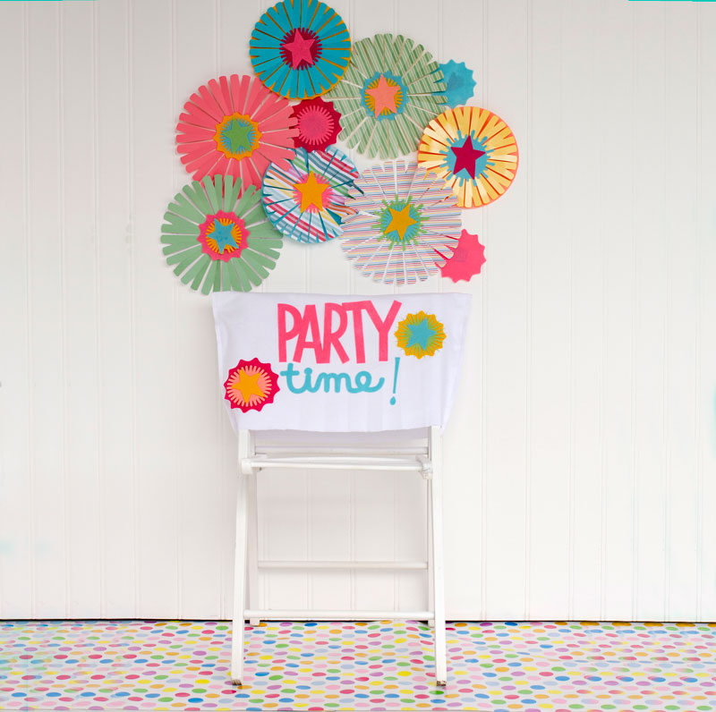 DIY Birthday Chair Cover Tutorial by Lindi Haws of Love The Day