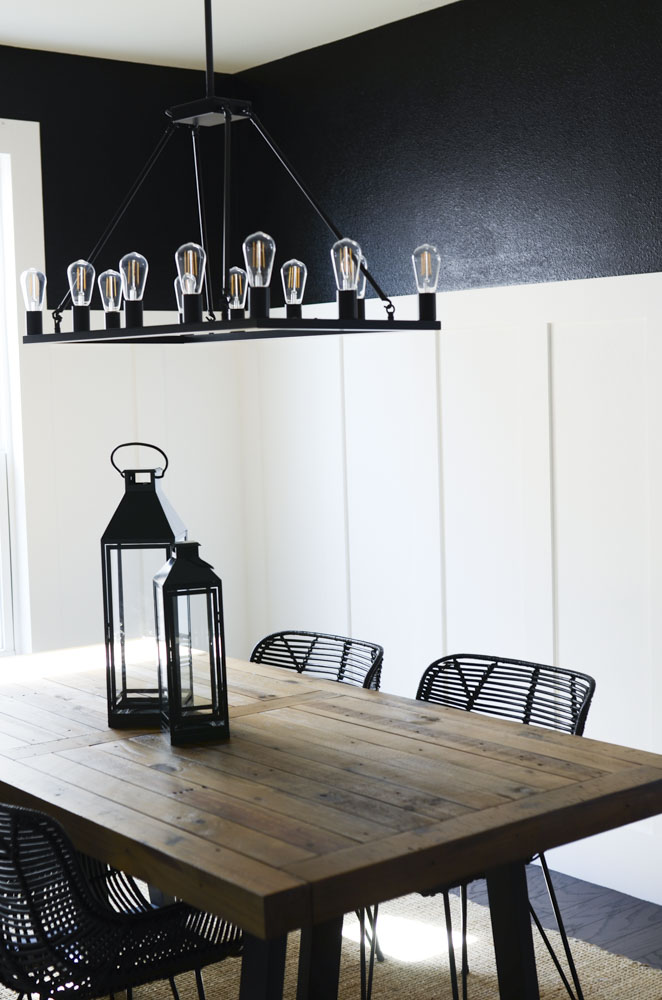 Black Dining Room Transformation by Lindi Haws of Love The Day