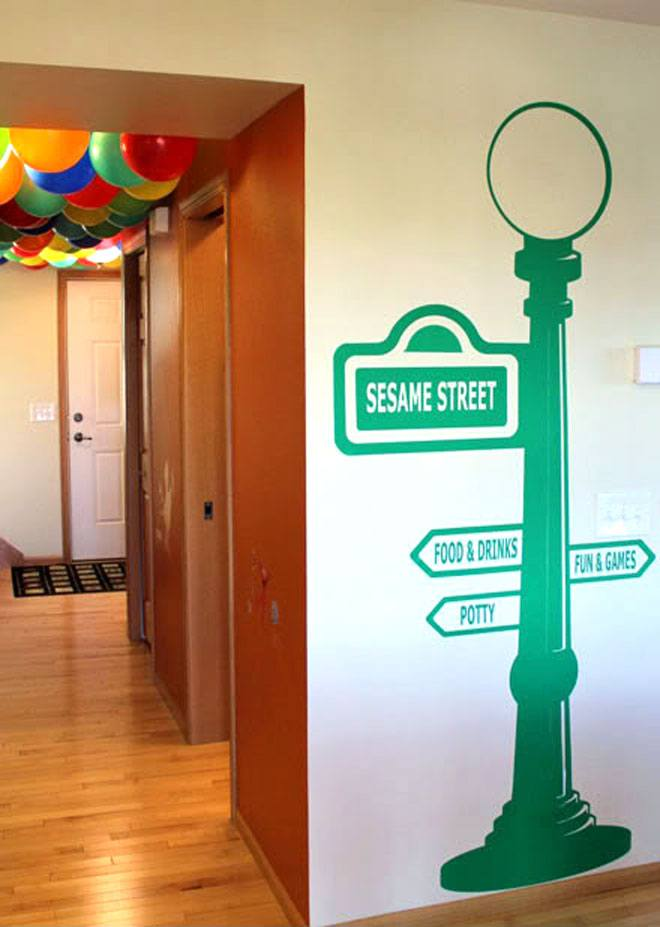 Sesame Street Party Ideas on Love The Day