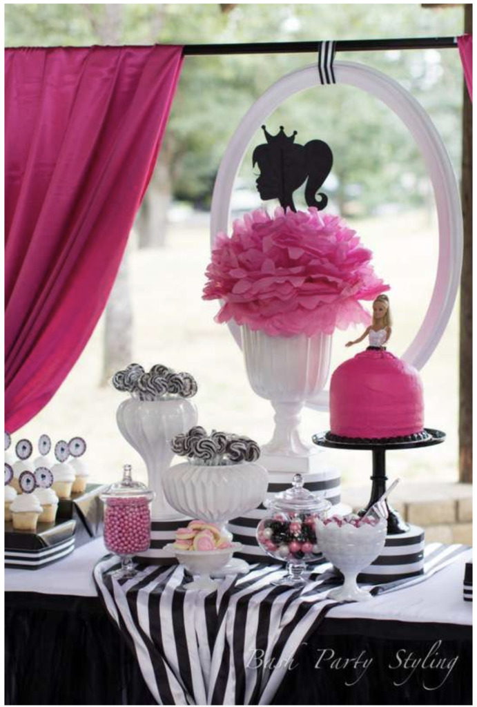 Pink & Black Barbie Party Ideas on Love The Day