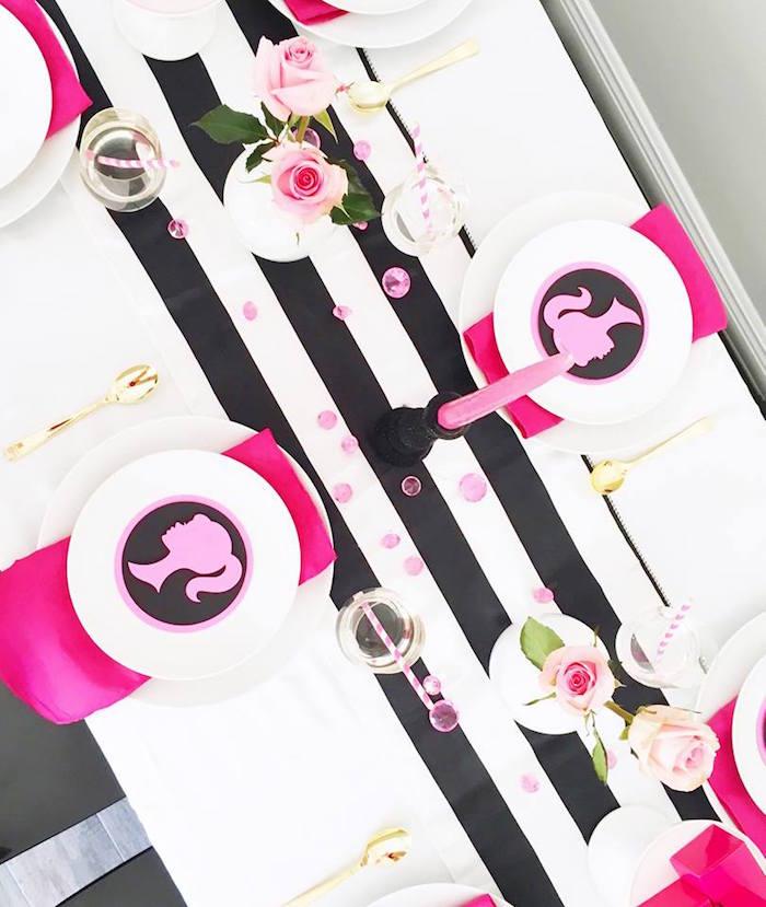 Pink & Black Barbie Party Ideas