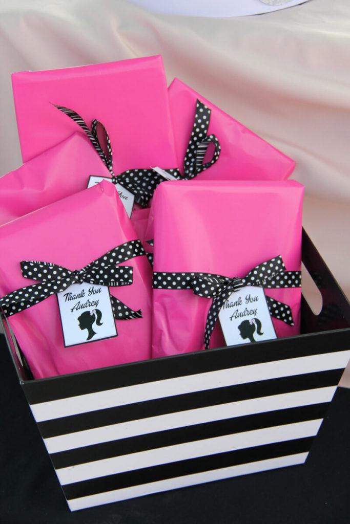 Barbie Birthday Favor Bag Ideas on Love The Day