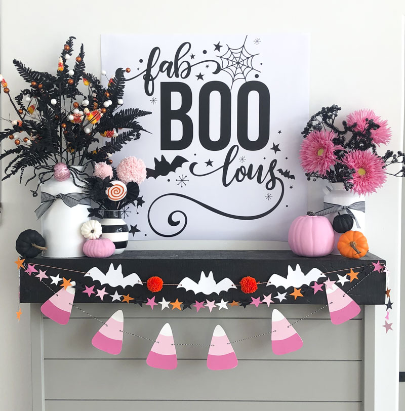 Pink Halloween Decor by Lindi Haws of Love The Day
