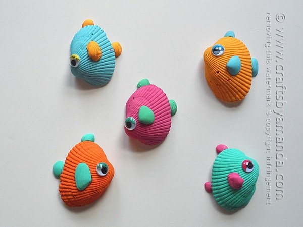 11 creative seashell crafts for kids