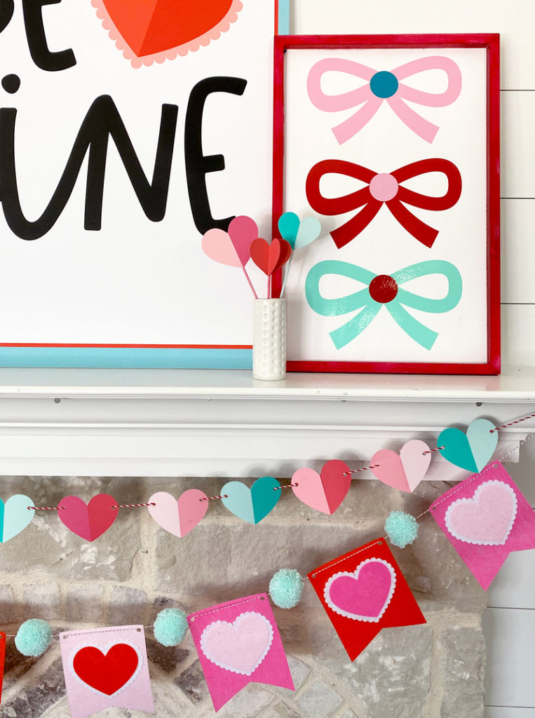 How To Make A Valentine Vinyl Sign with a Cricut on Love The Day