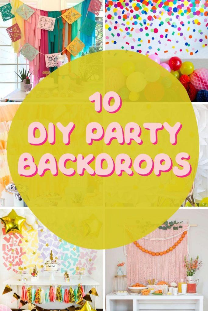 10 diy party backdrops