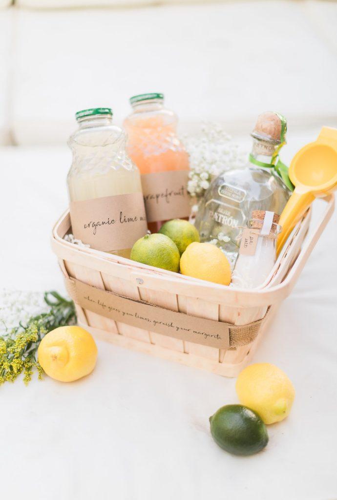 diy margarita cocktail kit gift basket 1 min